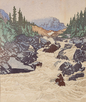 Above Lake Louise by Walter Joseph (W.J.) Phillips