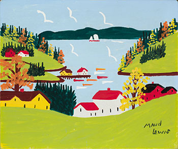 Sandy Cove in Fall by Maud Lewis