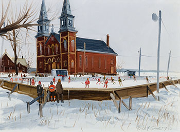 Village Skating Rink by Terry Tomalty