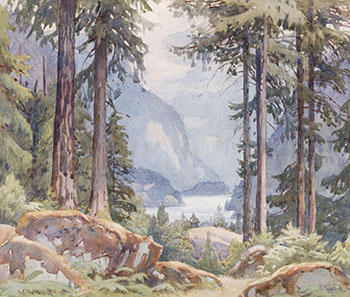 View Through the Trees by Frederick Henry Brigden