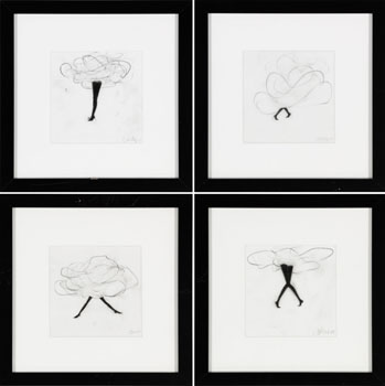 A Set of Four Drawings by Cathy Daley