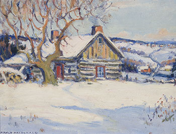 Cabin in Winter by Manly Edward MacDonald