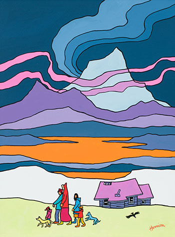 White Peak by Ted Harrison
