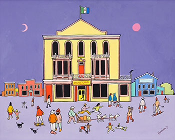 Dawson City Theatre by Ted Harrison